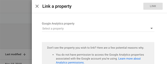 Select and link property