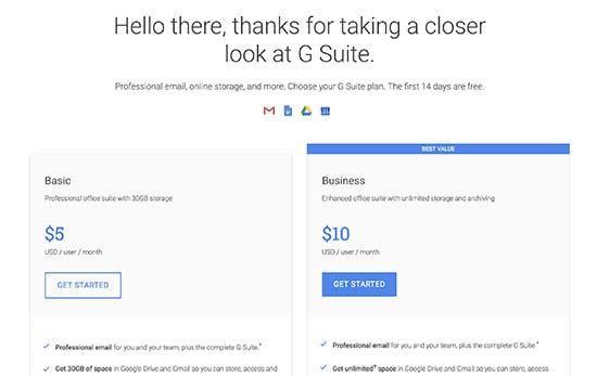 Начните с G Suite