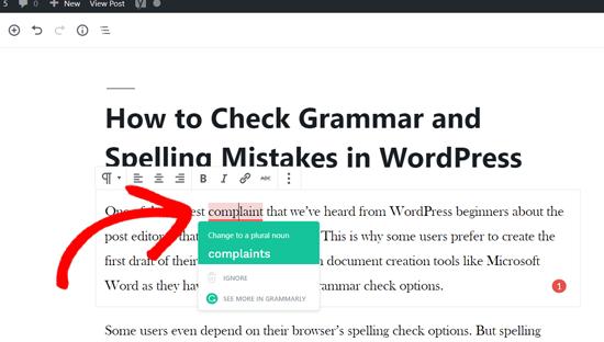 Fix Writing Errors with Grammarly in WordPress