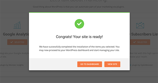 Finished setting up your website