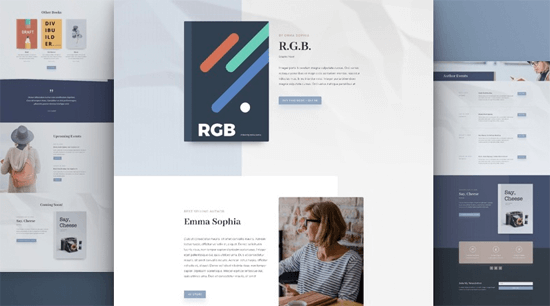 Divi Theme Author Layout