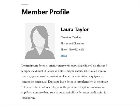 Staff Member Profile Single Page in WordPress