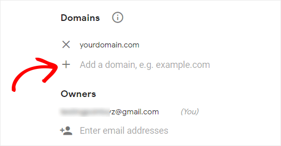 Добавить домен и адрес электронной почты на сайт reCAPTCHA