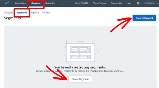 Crear botón de segmento en contacto constante
