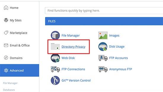 Конфиденциальность каталога