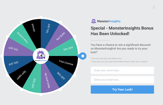 Gamified Spin a Wheel Campaign