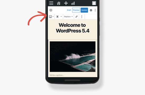 Block toolbar on mobile screens