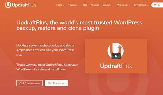 The UpdraftPlus Premium plugin for WordPress