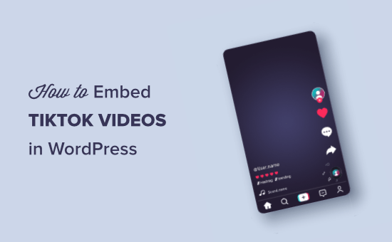 Cara menyematkan video TikTok di WordPress