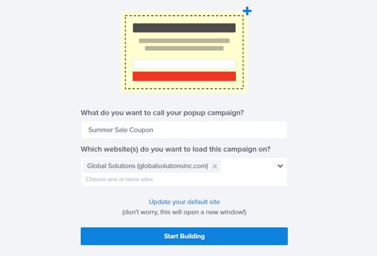 Give your WooCommerce coupon popup a name