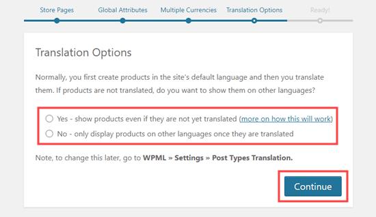 Memilih apakah produk harus ditampilkan tanpa terjemahan