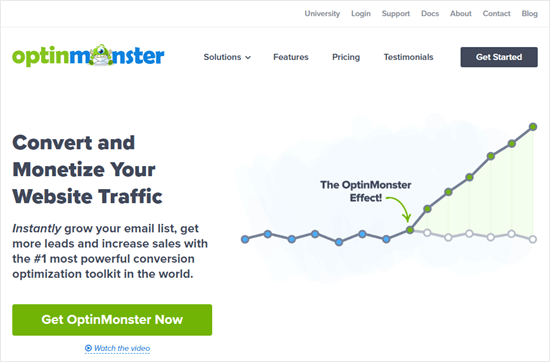 The OptinMonster homepage