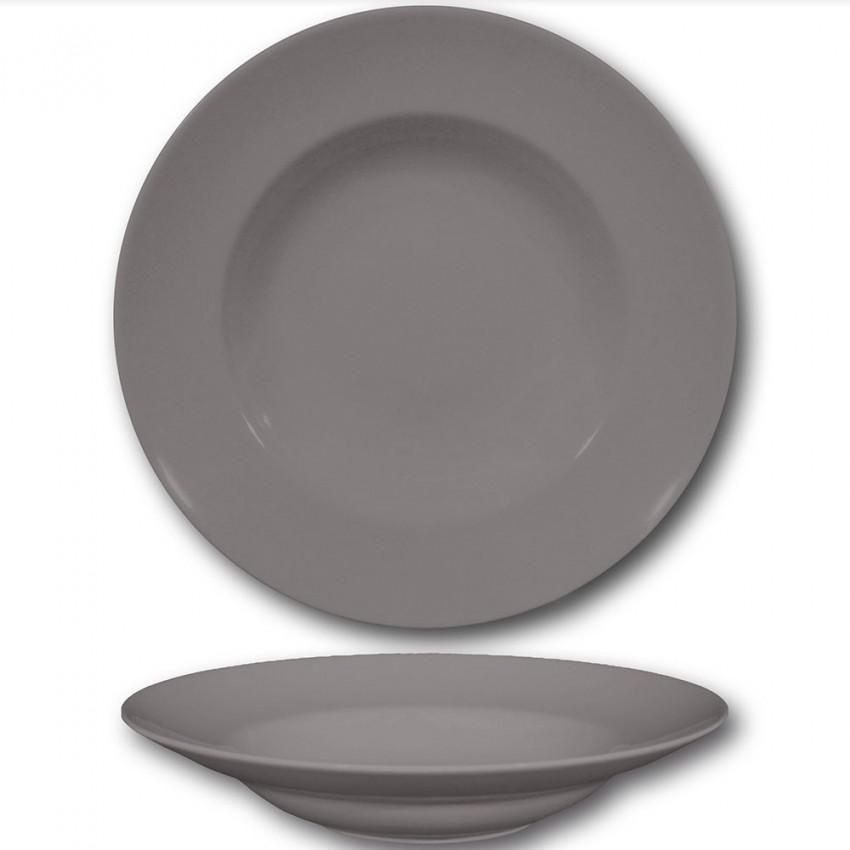 assiette a pates gris d 26 cm napoli