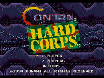 Contra Hard Corps Sega screenshot 1