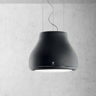 hotte cuisine elica suspendue noir mat shining 50 cm