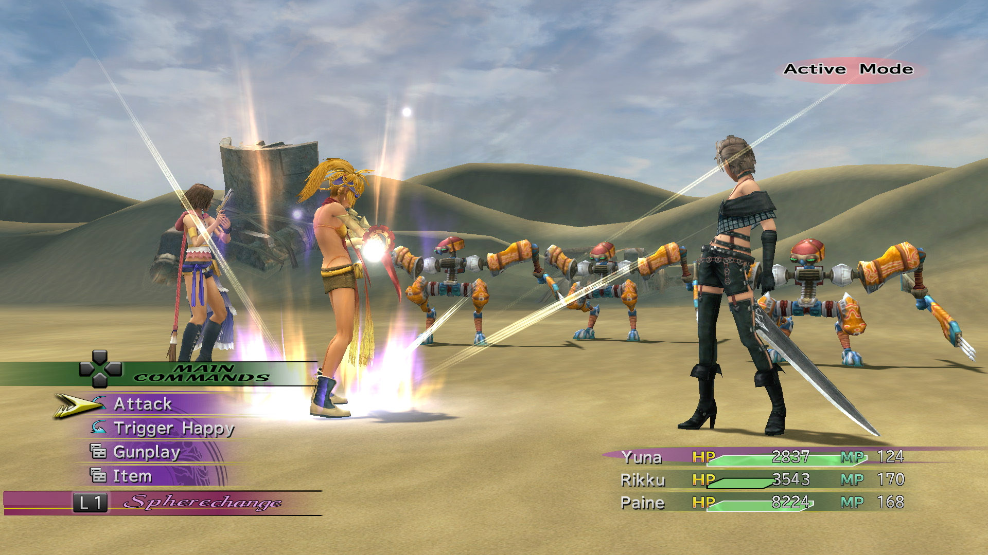 Image result for ffx-2 gameplay