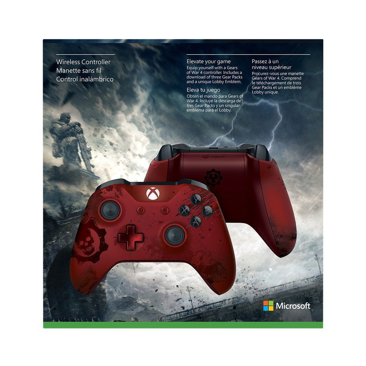Two Limited Edition Gears Of War 4 Controllers And Xbox
