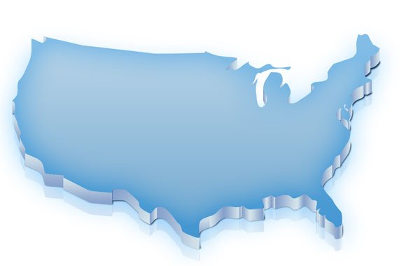 US Map Template For PowerPoint With Editable States SlideModel US - Us map clip art free