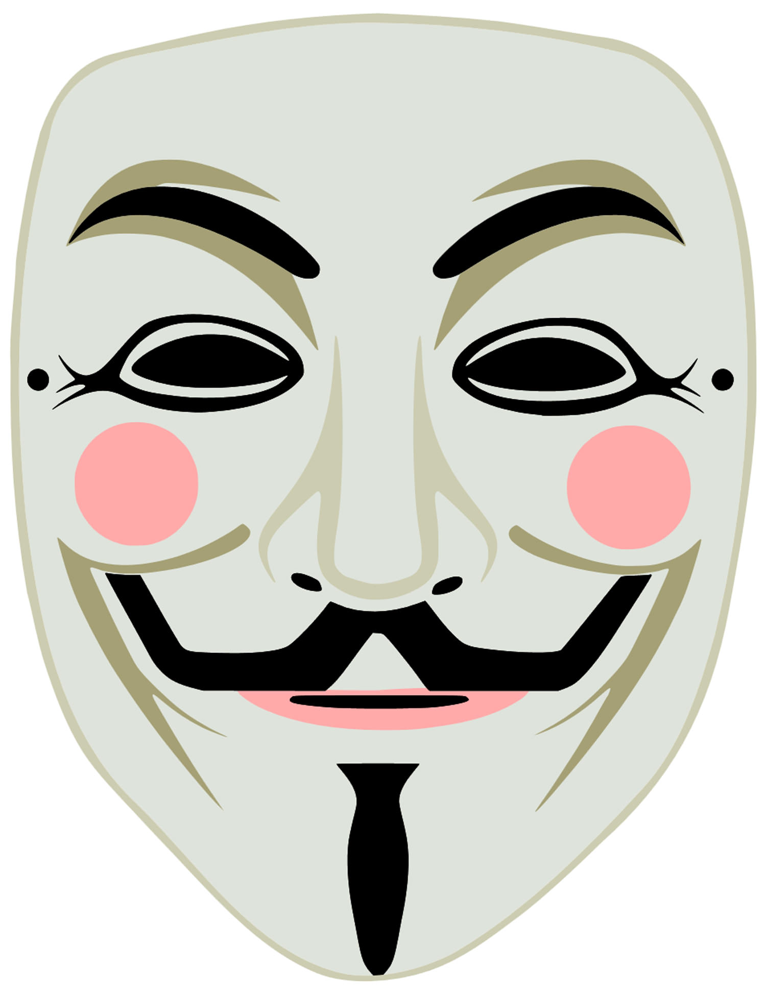 3 High Quality Printable Vendetta Guy Fawkes Mask Cut Out