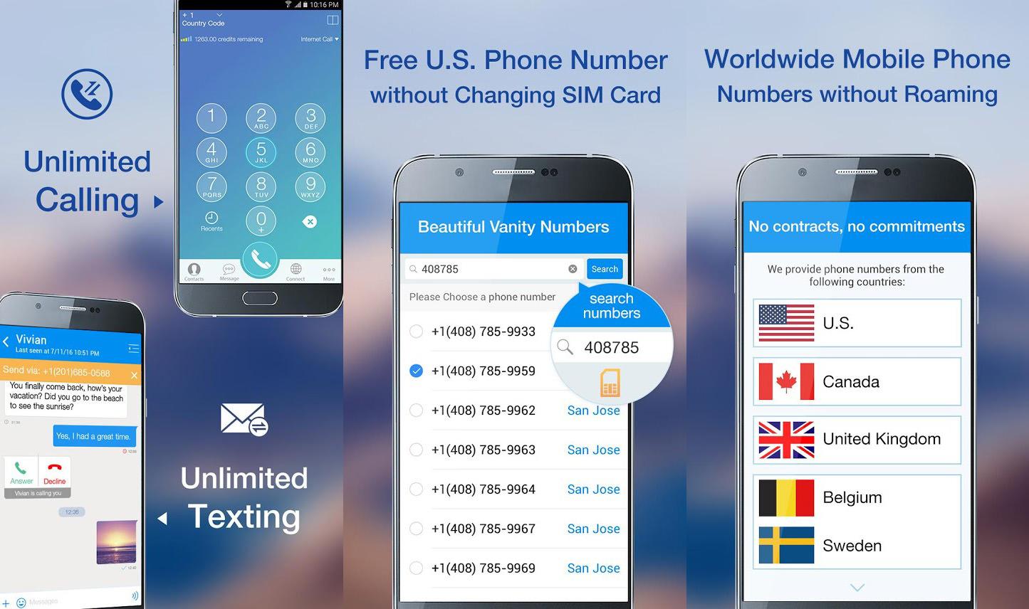 Unlimited Virtual Phone Numbers