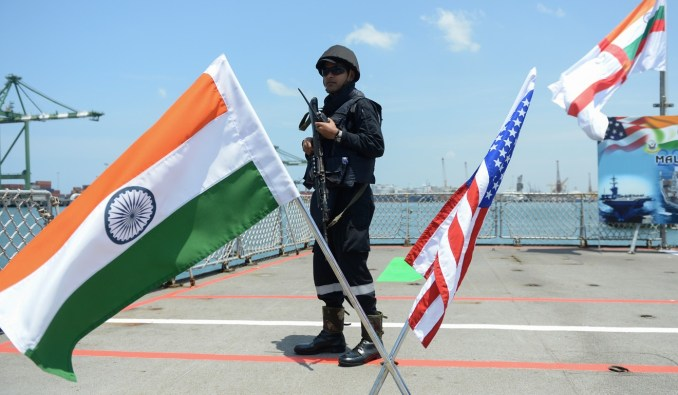As well as China, India is taking part in joint military exercises with Russia and the US. Photo: AFP