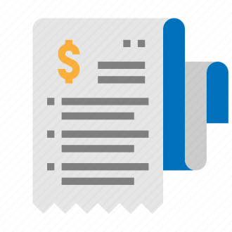 E commerce  by NhorPhai bill  cash  invoice  receipt icon