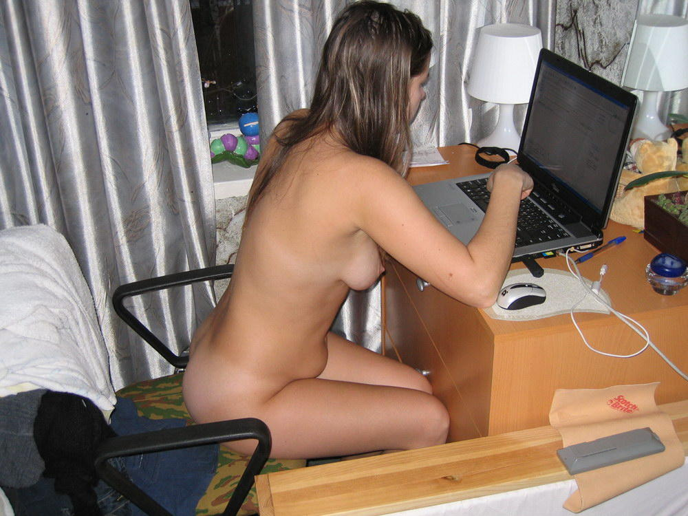 Image result for naked in front of computer