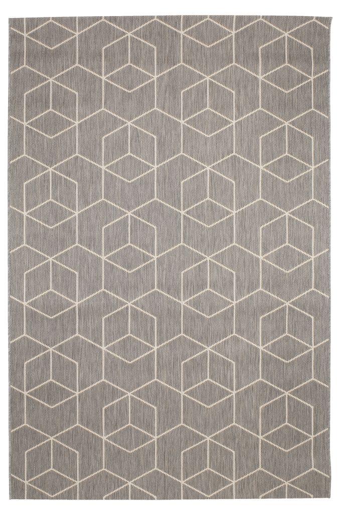 tapis balsatre 160x230 gris blanc
