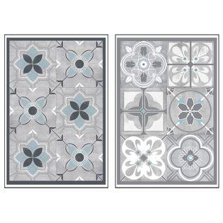 sticker carreaux ciment gris ou bleu