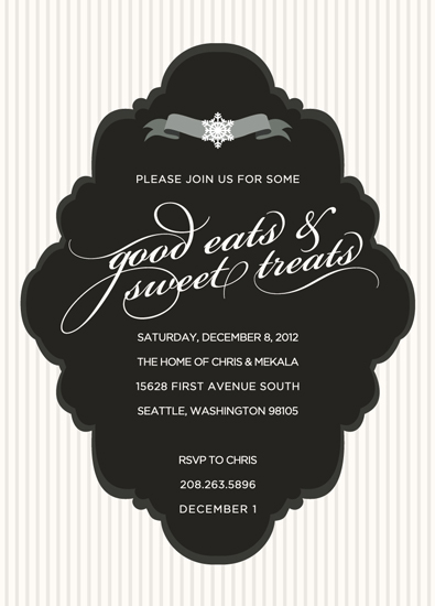 Party Invitations Black Tie Winter Soiree At