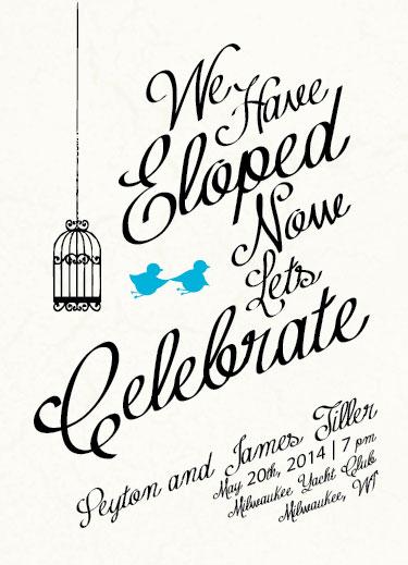 Wedding Invitations Run Away Elopement At Minted Com