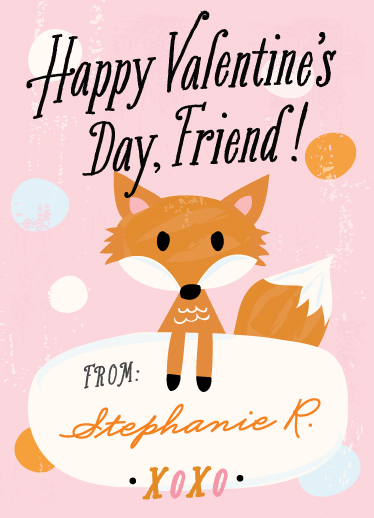 Valentines Cards Fox Friend At
