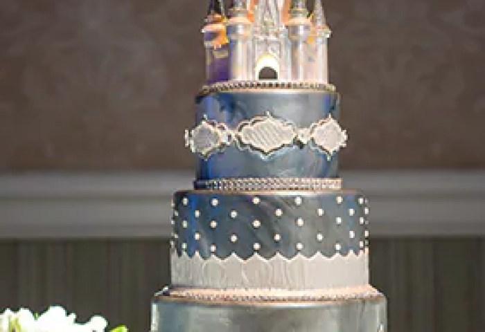 Wedding Cake Wednesday Blue Disney Cinderella Castle Disney Weddings