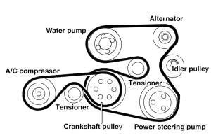 BMW E60 5Series M54 6Cylinder Engine Drive Belt