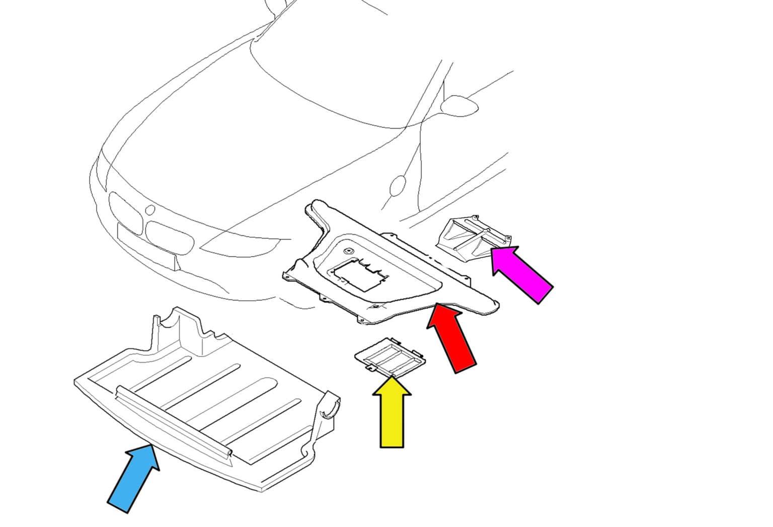 Bmw Z4 M Engine Amp Transmission Splash Shield Removal