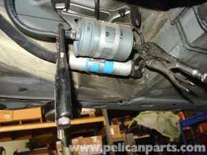 MercedesBenz W210 Fuel Filter Replacement (199603) E320, E420   Pelican Parts DIY Maintenance