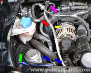 Porsche 911 Carrera Coolant Tank Replacement  996 (1998