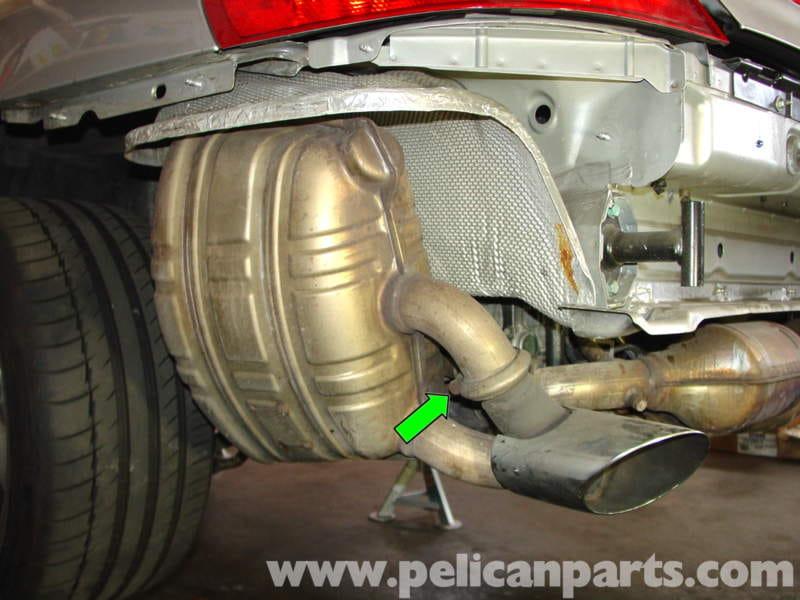 porsche 911 carrera muffler replacement