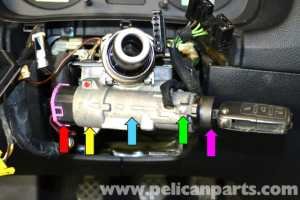 Volkswagen Golf GTI Mk IV Ignition Switch and Lock Cylinder Replacement (19992005)  Pelican