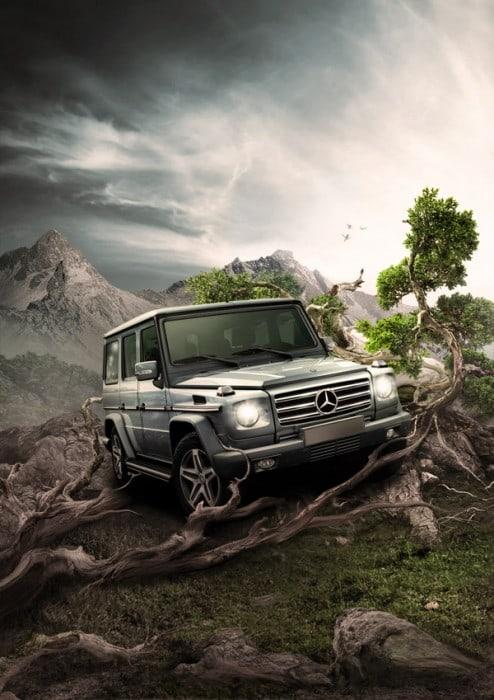 car advertisement poster design 32 494x700 10 Fresh Step by Step Photo Manipulation Tutorials to Improve Your Photoshop Skills