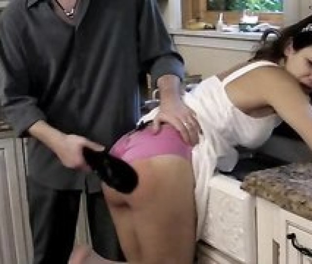 827 Gorgeous Young Brunette Got Her Butt Spanked From Behind