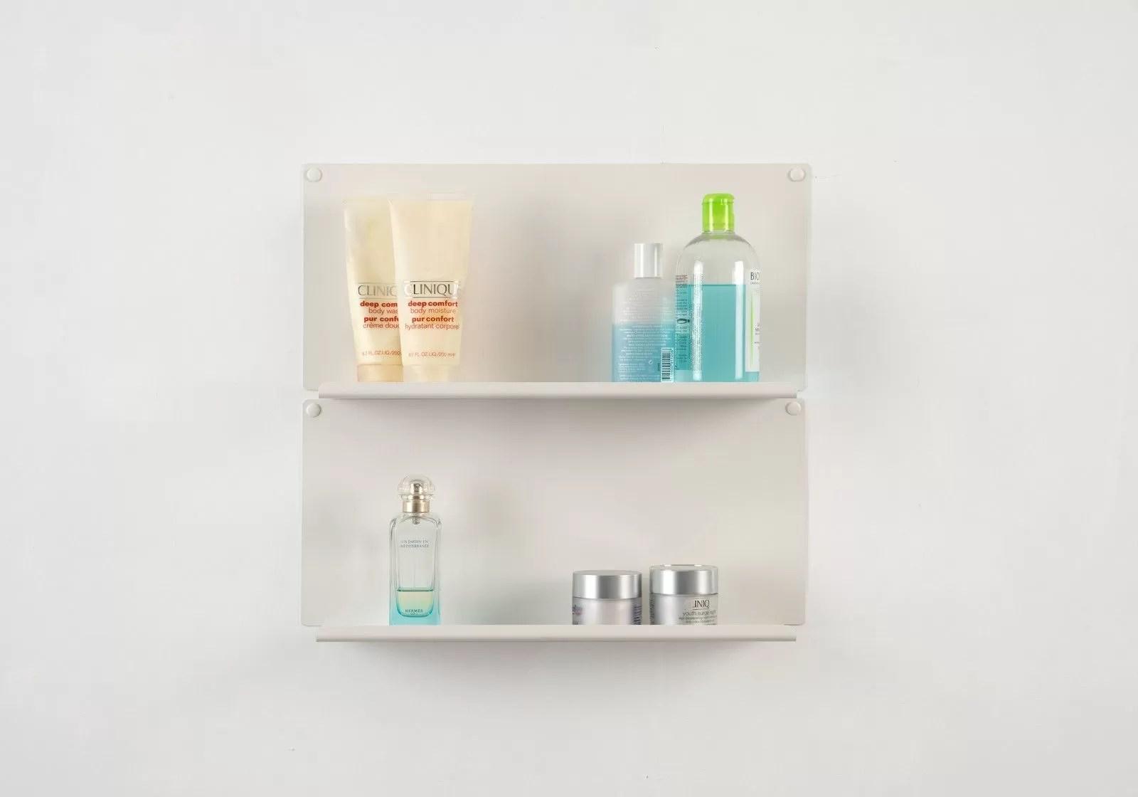 set of 2 bathroom shelves le