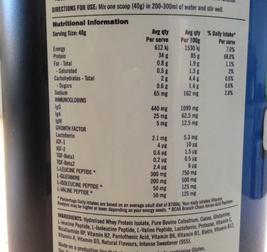 swift protein ingredients