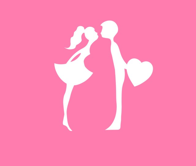 Kissing Couple Young Lovers Romantic Couple Vector Image