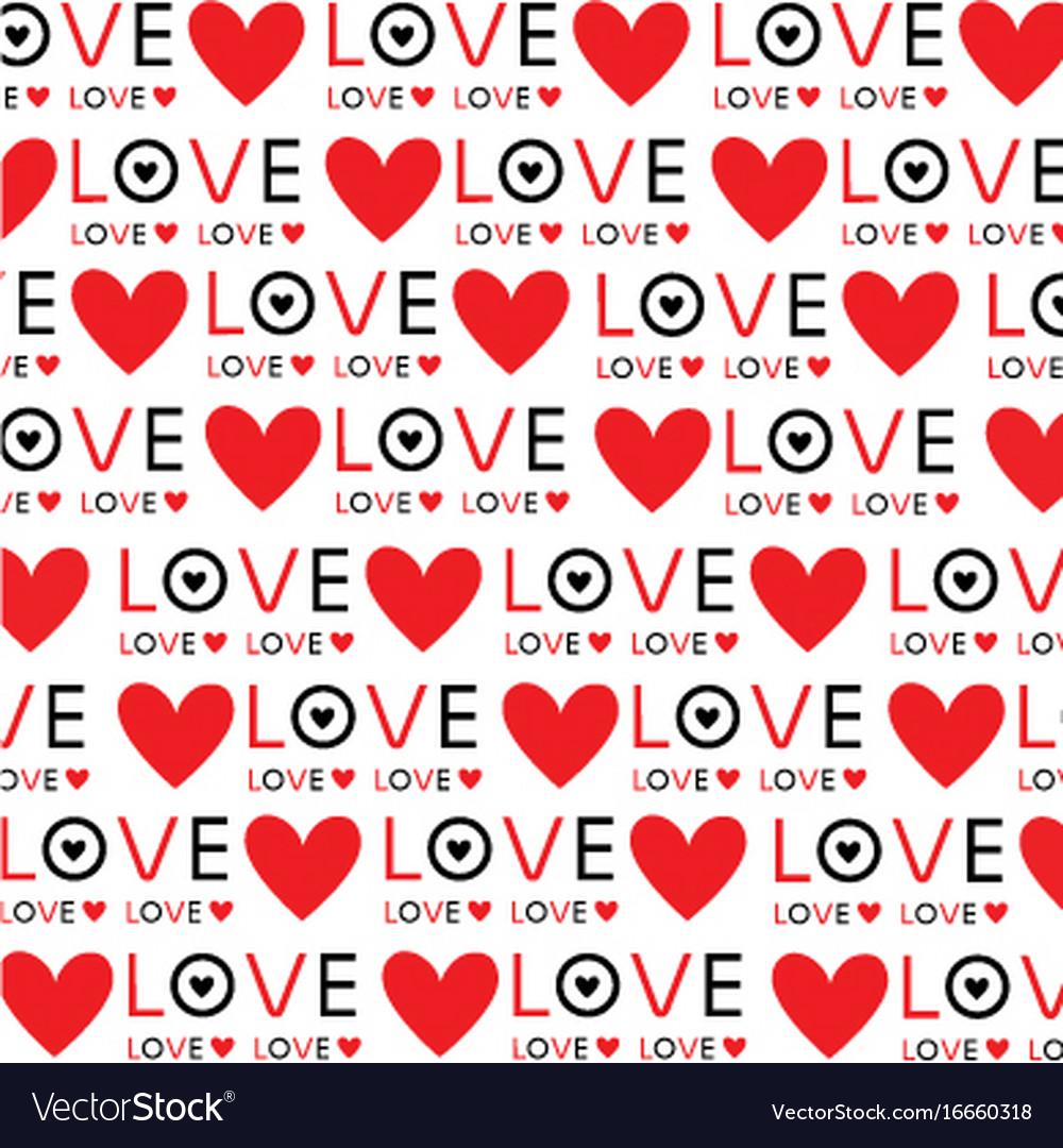 Download Background wallpaper love heart text design Vector Image
