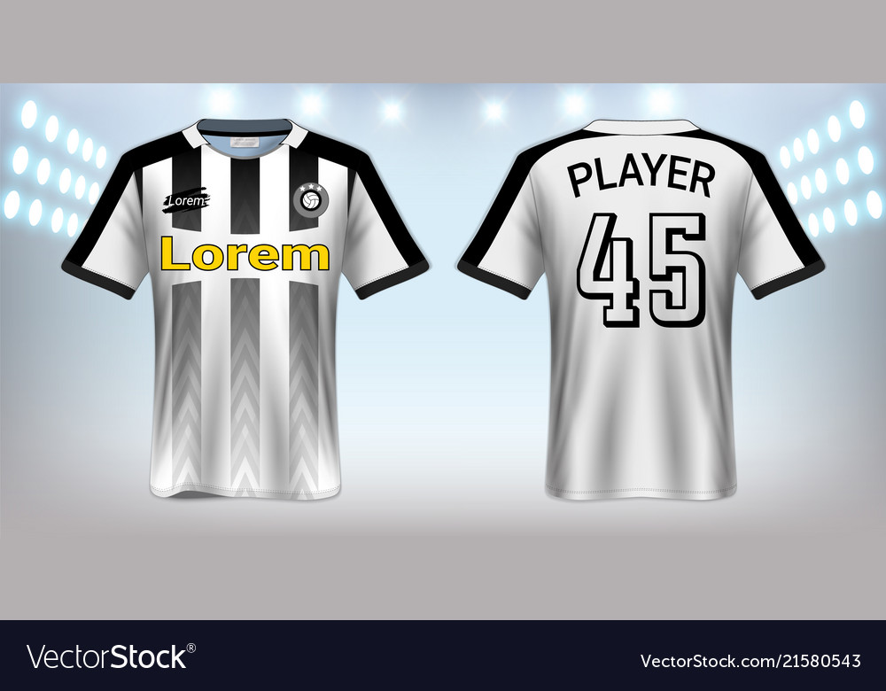 Download Soccer jersey mockup template Royalty Free Vector Image