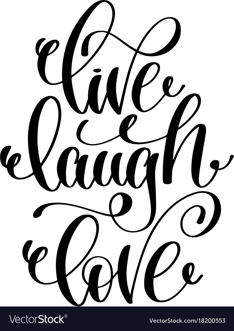 Download Live laugh love hand written lettering positive Vector Image