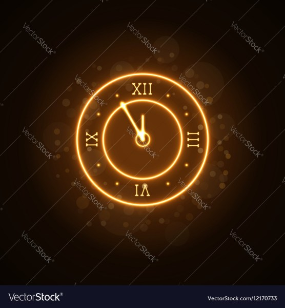 Happy New Year background gold clock Royalty Free Vector Happy New Year background gold clock vector image