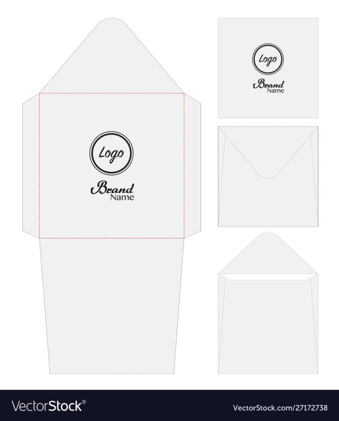 Envelope For Invitation Card Line Mockup