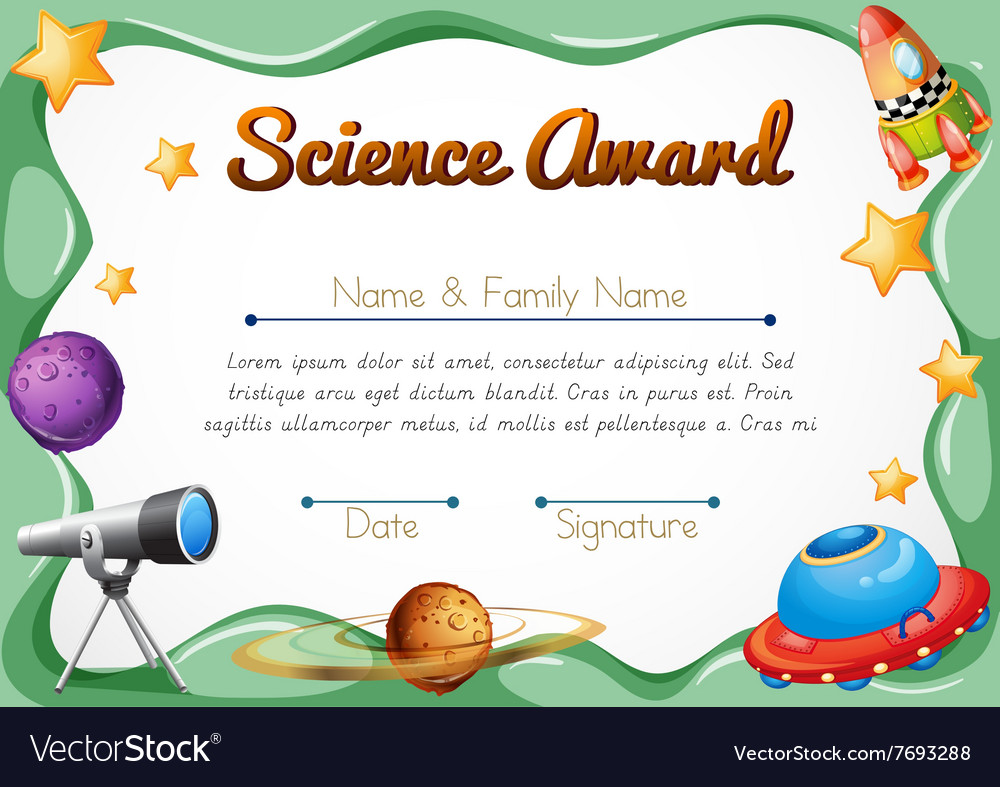 Certification Template For Science Award